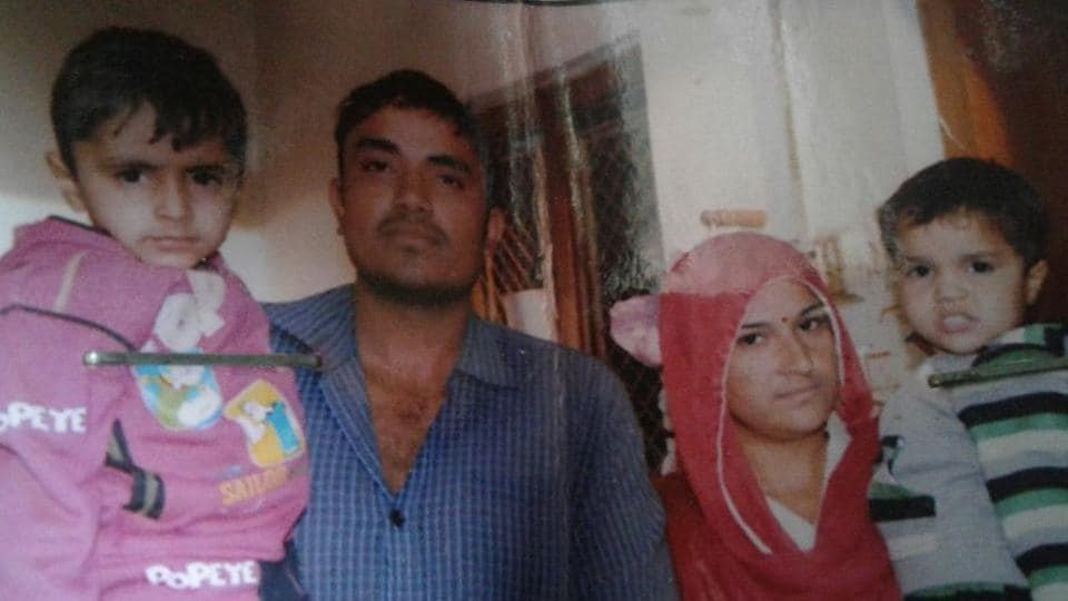 Jhajjar resident Jaideep, who was killed in Jat quota stir last year, along with his wife and his two children.