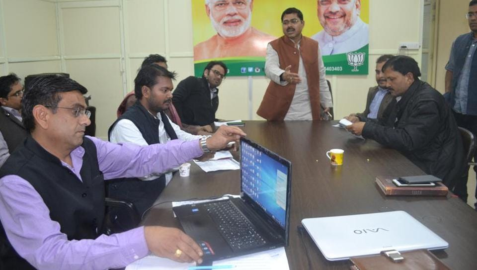 At least 80 men and women drive the BJP's war room in UP, five of whom are protégés of campaign strategist Prashant Kishor. Their average age is 28 and their team's core functions are data crunching, seat analysis, digital media and operations.