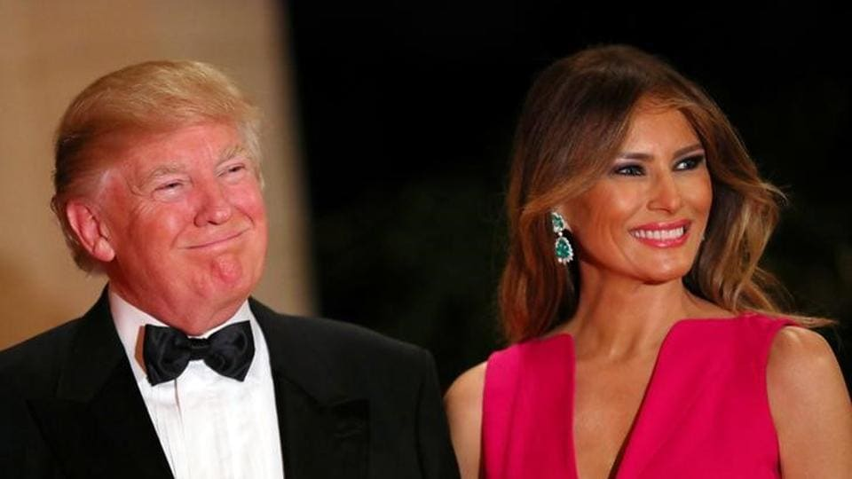 US President Donald Trump and First Lady Melania Trump attend the 60th Annual Red Cross Gala at Mar-a-Lago club in Palm Beach, Florida on Saturday.