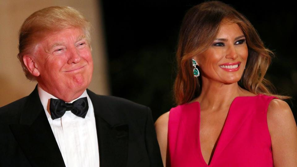 U.S. President Donald Trump and First Lady Melania Trump attend the 60th Annual Red Cross Gala at Mar-a-Lago club in Palm Beach, Florida.