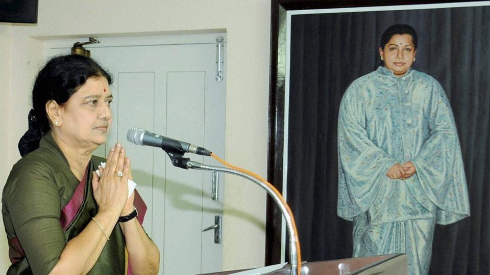 VK Sasikala, the AIADMK general secretary and close aide of late Jayalalithaa.