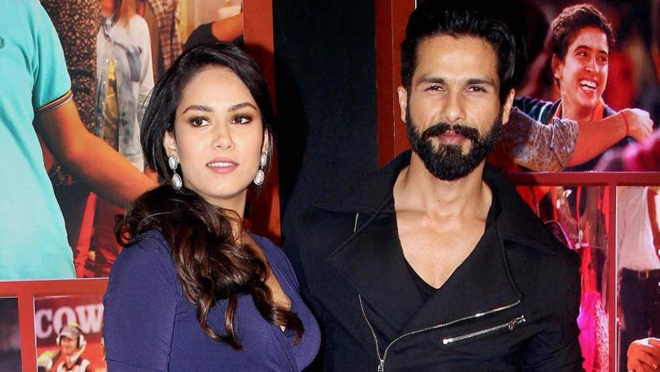 Bollywood actor Shahid Kapoor with his wife Mira Rajput during the success party of Dangal. (PTI)