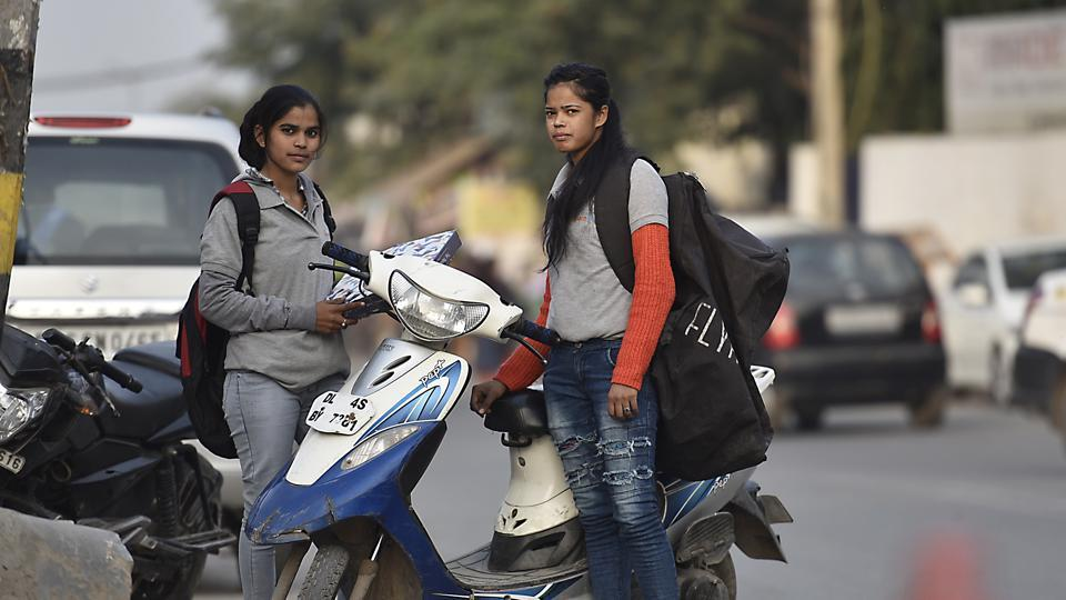 Women empowerment,delivery girls,Scooty