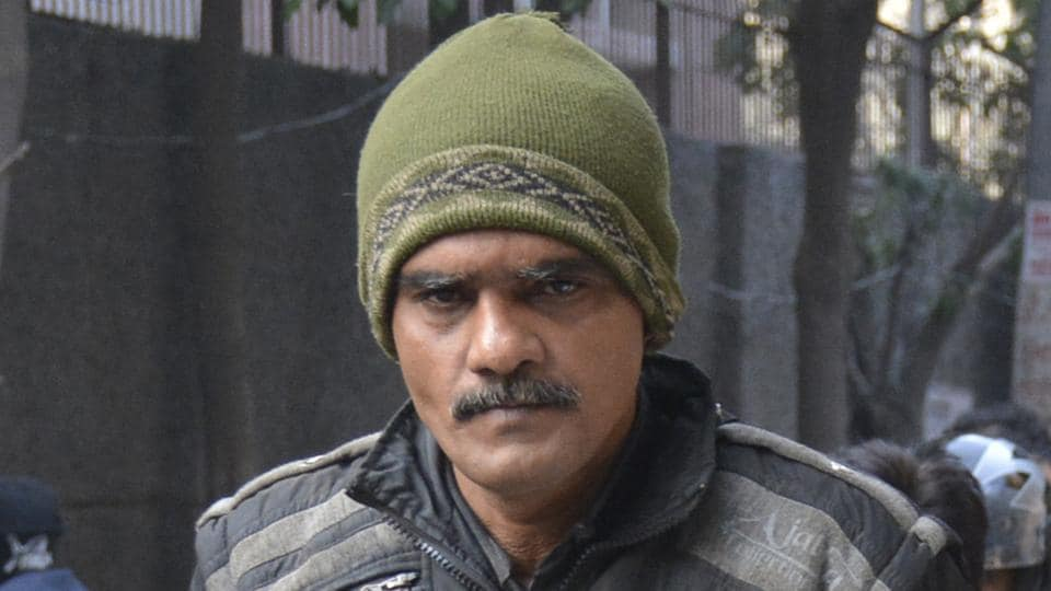 The alleged impostor, who has been identified as Syed Imtiyaz Qadri, at the Ghaziabad court on January 31.