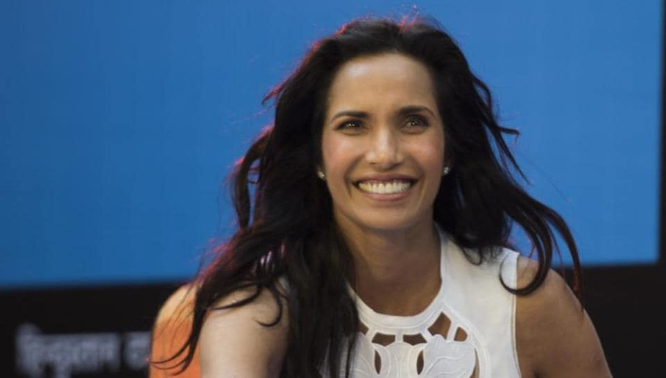 Padma Lakshmi launches her book, Love, Loss and What We Ate, in India at the HT Kala Ghoda Arts Festival in Mumbai on Saturday.