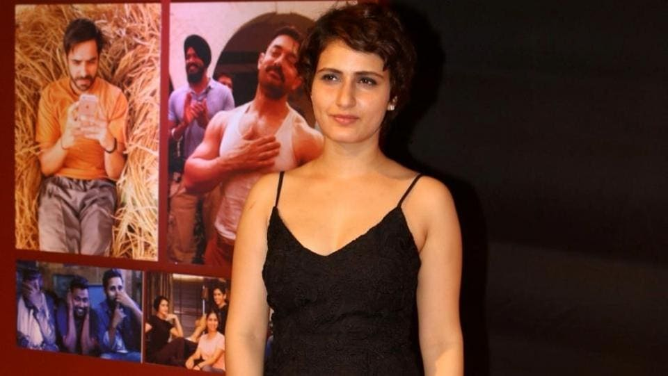 Actor Fatima Sana Shaikh during the success party of film Dangal in Mumbai on Feb 4, 2017. (IANS)
