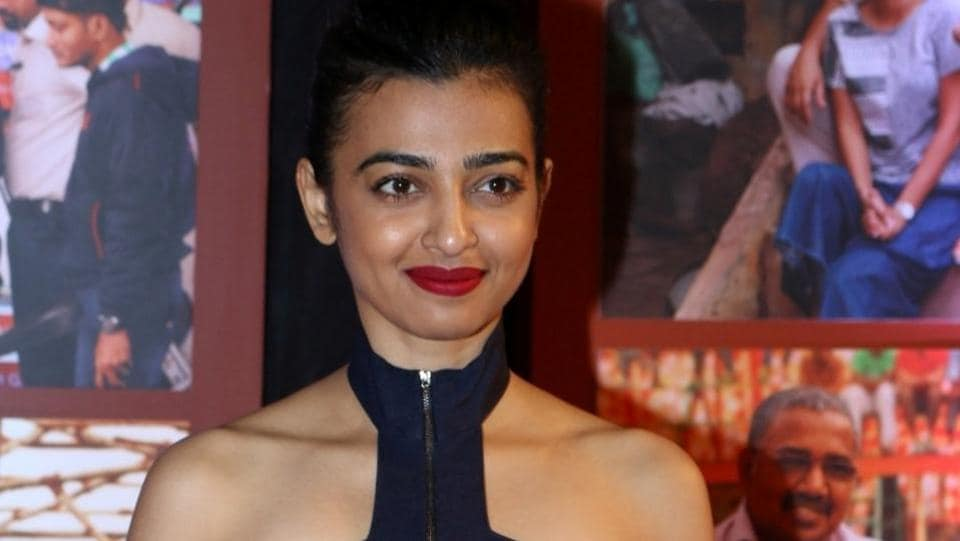 Actor Radhika Apte pictures at the success party of Aamir Khan-starrer film Dangal in Mumbai. (IANS)