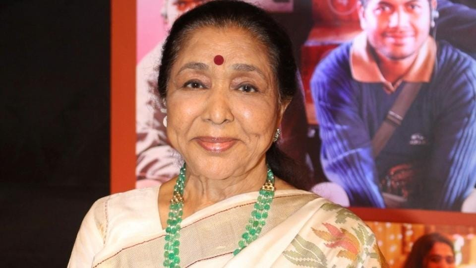 Singer Asha Bhosle arrives for the success party of Dangal. (IANS)