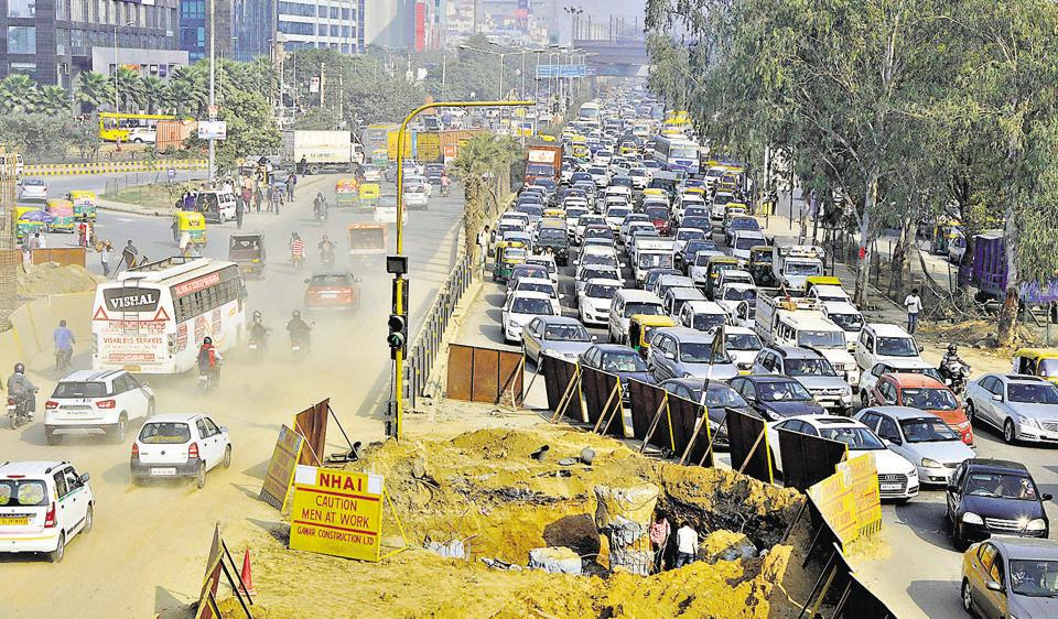 The unending stream of vehicles coming from different directions could have a tough time navigating Iffco Chowk because of all the construction work in the days ahead.