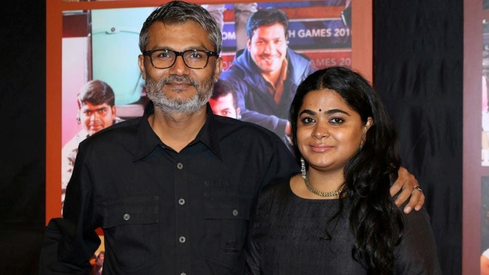 Filmmaker Nitesh Tiwari, who directed Dangal, with his wife and filmmaker Ashwini Iyer Tiwari. (IANS)