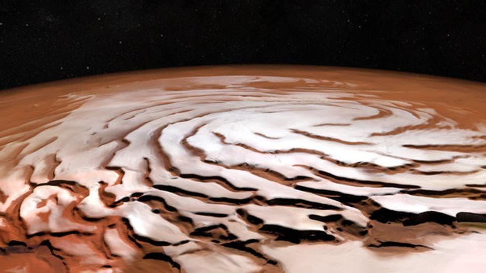 Mars,European Space Agency,Spiralling Troughs