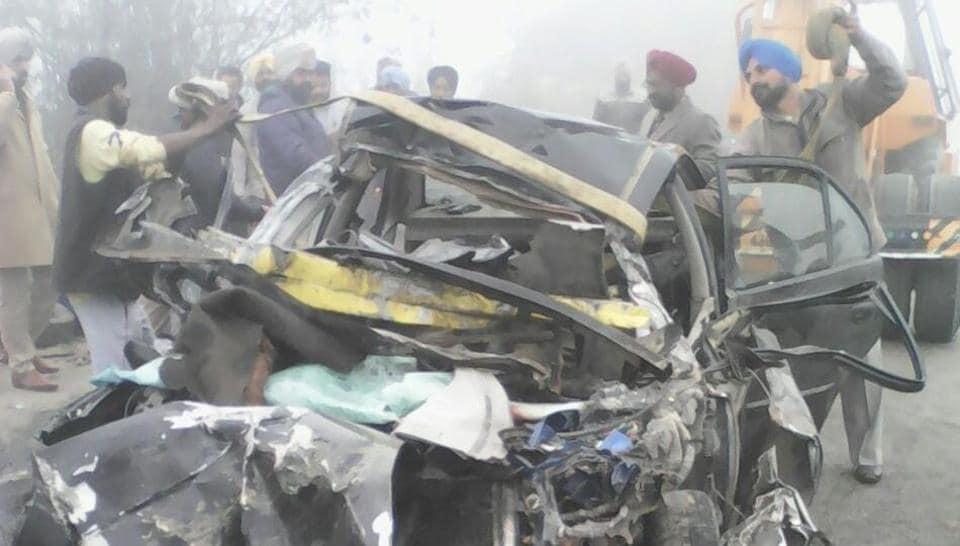 Car collision,Ferpzepur district,road mishap