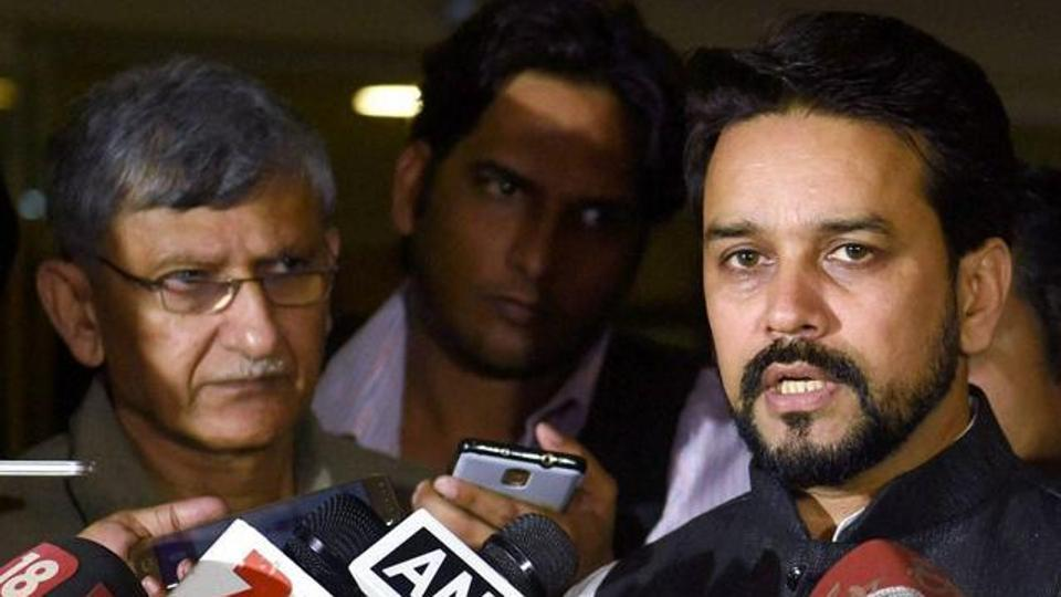 Anurag Thakur (right) and Ajay Shirke were sacked as BCCIpresident and secretary by the Supreme Court.