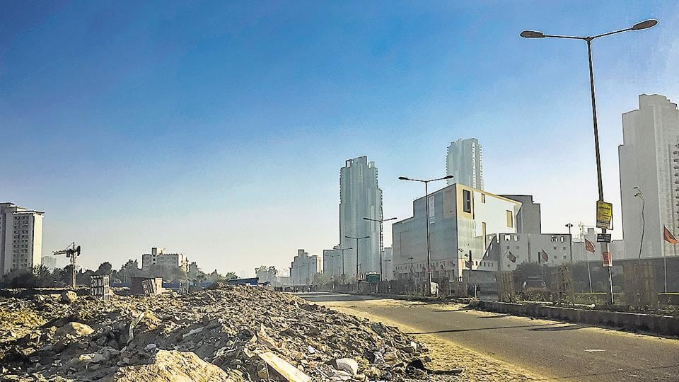 Gurgaon Sector 67,Huda,construction and demolition waste