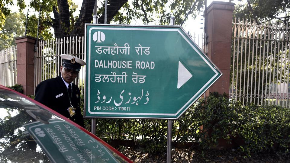 Central Delhi's Dalhousie Road was renamed as Dara Shikoh Road after Aurganzeb's brother on Monday.