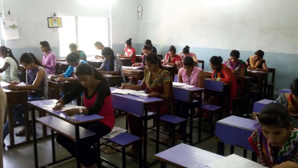 Soon after examination concluded on Sunday, TV channels showed some candidates alleged question paper leak.