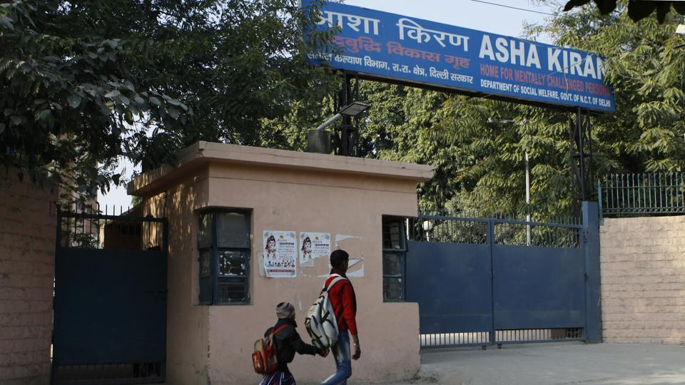 Asha Kiran home for mentally disabled people in Rohini, New Delhi.