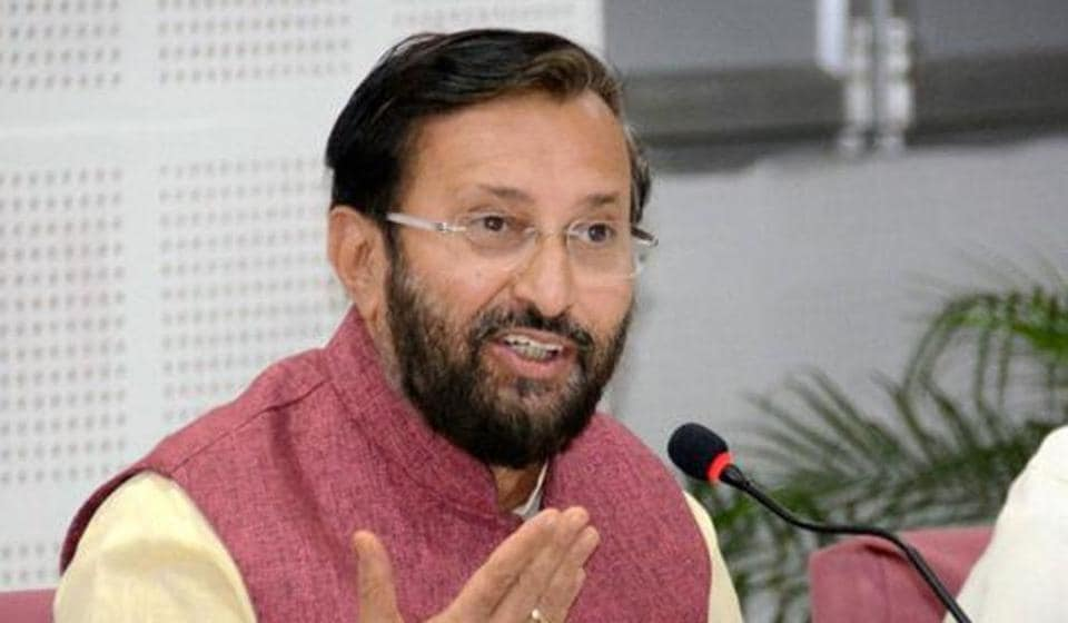 Union HRD Minister Prakash Javadekar said the government is making progress on its education spending goals, but the budget documents say otherwise.