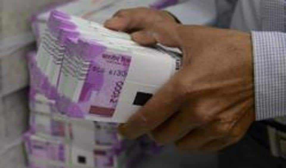 The rupee gained 12 paise to trade at Rs 67.19 against the US dollar in late morning trade following sustained bouts of dollar selling by banks and exporters on the back of firm domestic equity market.