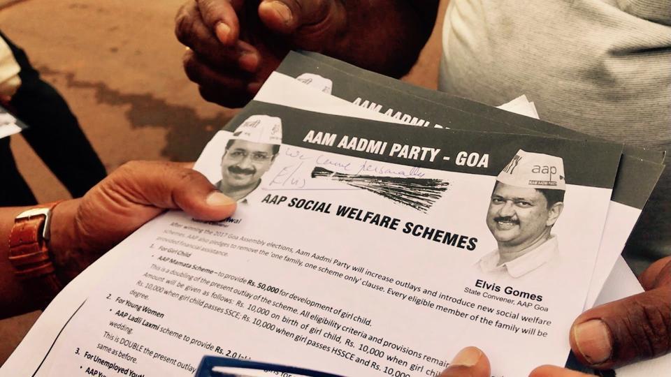 AAP,Congress,BJP