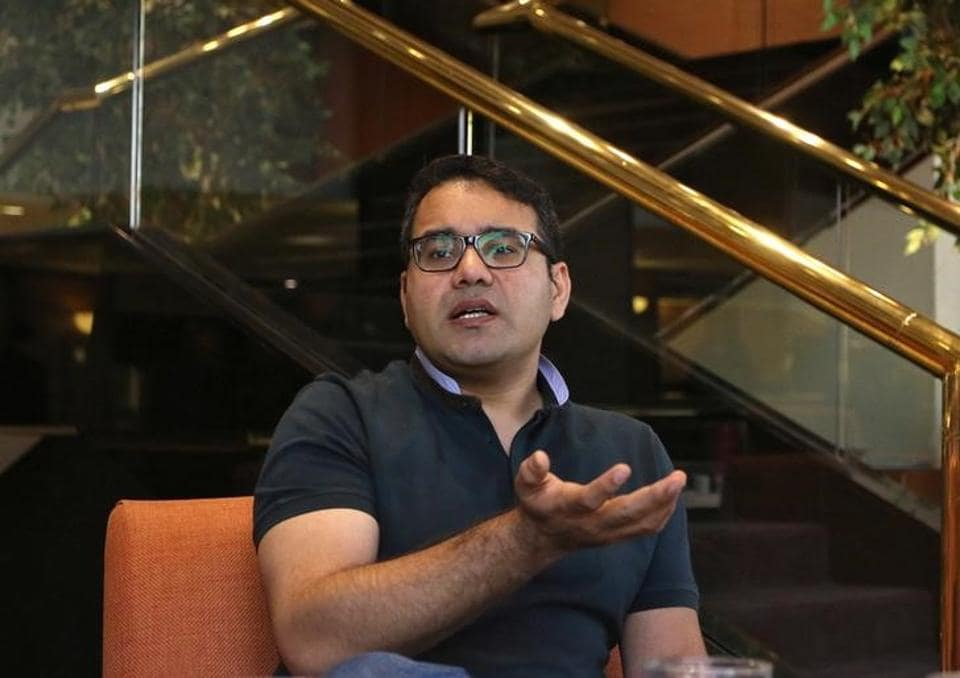 Kunal Bahl, CEO of India's e-commerce firm Snapdeal, speaks during an interview.