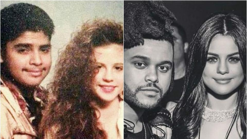 What's weird about this picture is that her parents look exactly like what Selena and her singer boyfriend The Weeknd look like now, 24 years later.