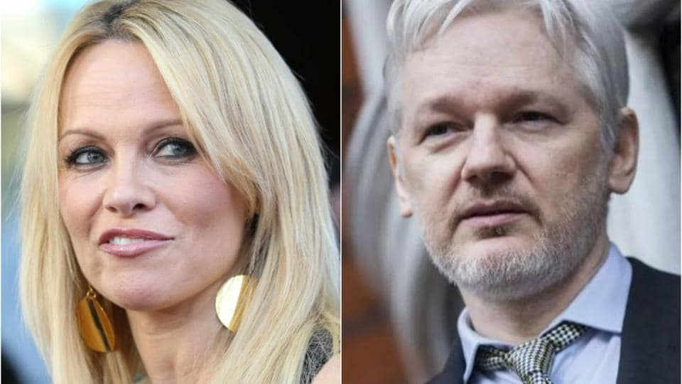 Pamela Anderson has visited Julian Assange five times in four months at his Ecuadorean Embassy in London, where he has been holed up for five years.