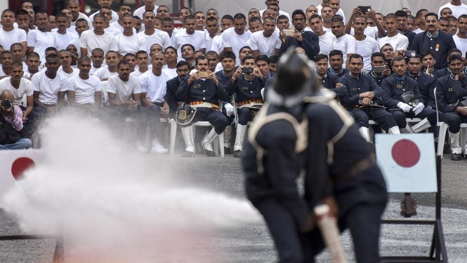 The drill completion has been conducted every year since 1942. (Kunal Patil/Ht photo)