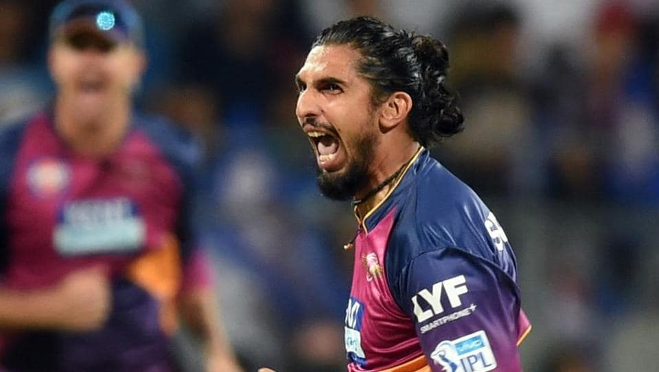 Ishant Sharma played for Rising Pune Supergiants in t he 2016 Indian Premier League (IPL).