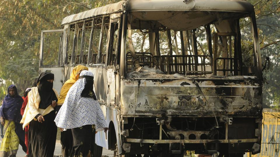 A police vehicle was allegedly burnt in Bhangar after two agitators died in firing. Villagers have been demanding the scrapping of a Power Grid Project  for the last two months.