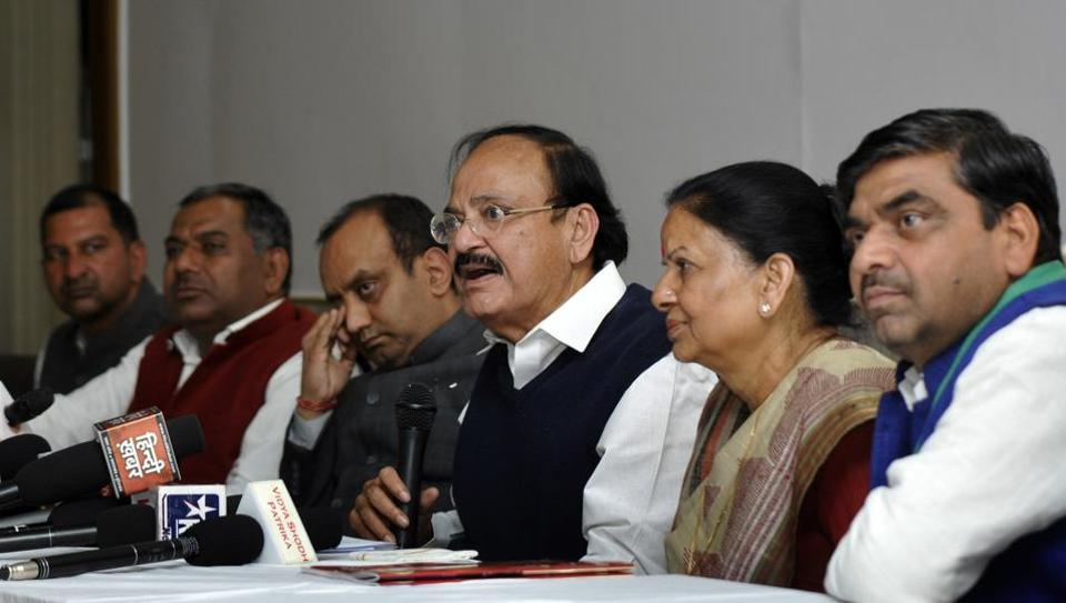 Naidu was speaking at a public event in Kailash Hospital on Tuesday evening, campaigning for BJP's Noida  candidate Pankaj Singh.