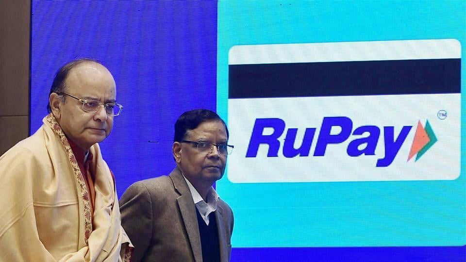 Finance minister Arun Jaitley and vice chairman, NITI Aayog, Arvind Panagariya at the launching ceremony of the DigiDhan Mela to popularize cashless transactions in the Country, in New Delhi.