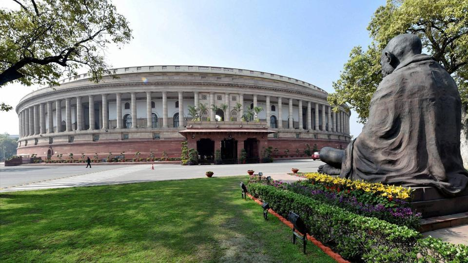 The Parliament House in New Delhi.