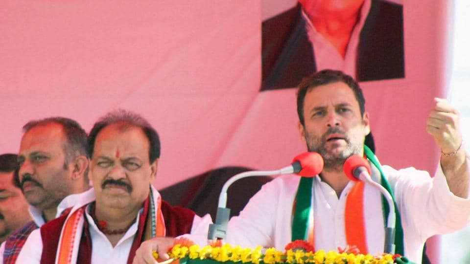 Congress Vice President Rahul Gandhi addresses an election rally in Meerut, Uttar Pradesh on Tuesday, Feb 7, 2017.