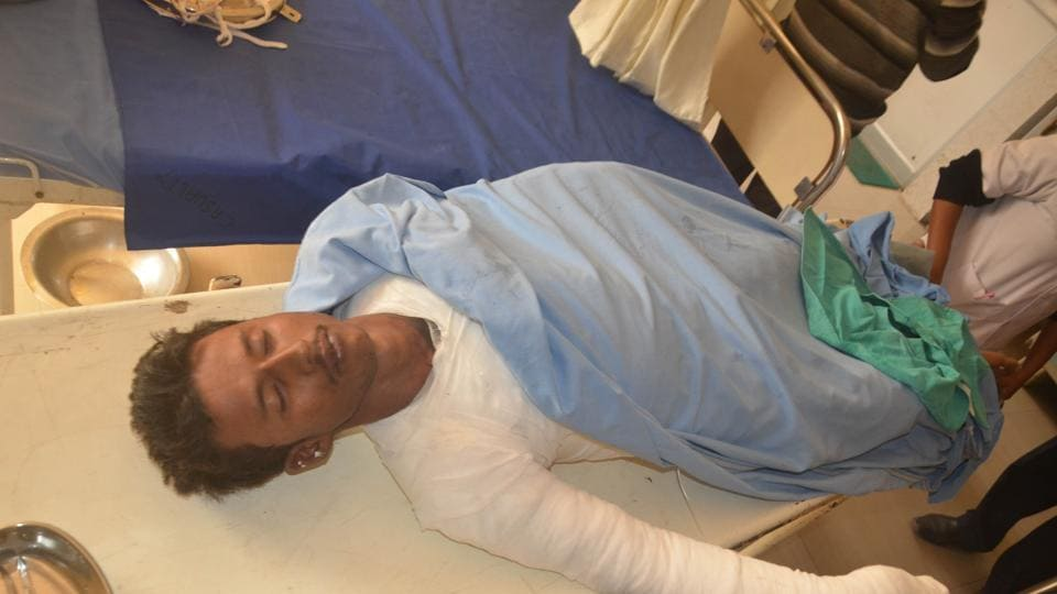 Ashutosh Anand, a class 12th student of Lala Lajpat Rai Senior Secondary school undergoing treatment  at  a private hospital in Ranchi after his suicide attempt