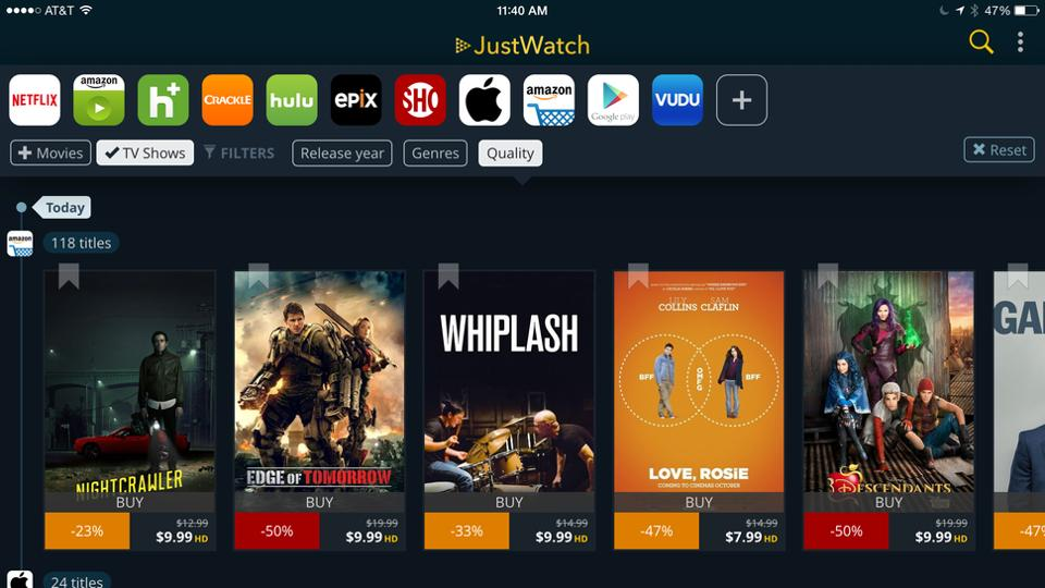 With more Indian millennials aggressively migrating to video-on-demand (VOD) platforms to watch premium content, JustWatch -- a Berlin based start-up -- offers a search engine to help viewers find where to legally watch their favourite movies and television series online.