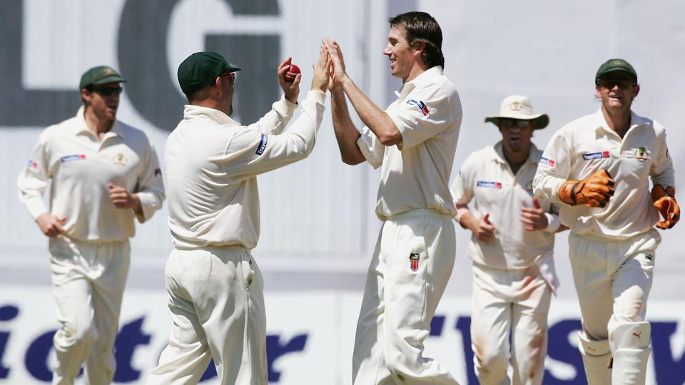 Glenn McGrath played a vital part in Australia's 2-1 series win over India in the 2004 series.