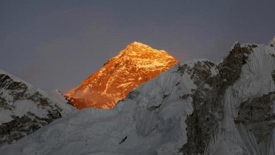 File photo of Mt Everest seen from the way to Kalapatthar in Nepal.