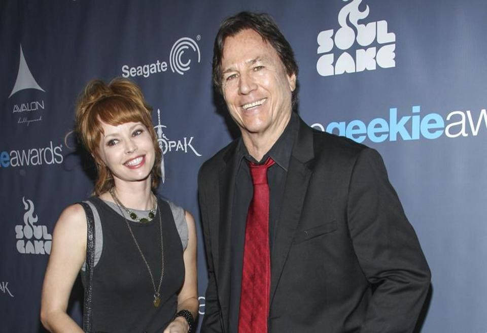 Actor Richard Hatch, right at the 2013 Geekie Awards at the Avalon in Los Angeles.
