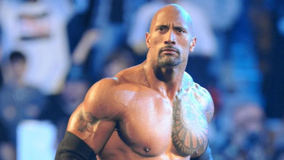 Dwayne Johnson,Paige,WWE