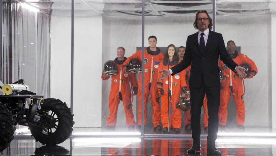 Hollywood actor Gary Oldman, of The Dark Knight fame, plays space pioneer Nathaniel Shepherd in the movie, The Space Between Us.