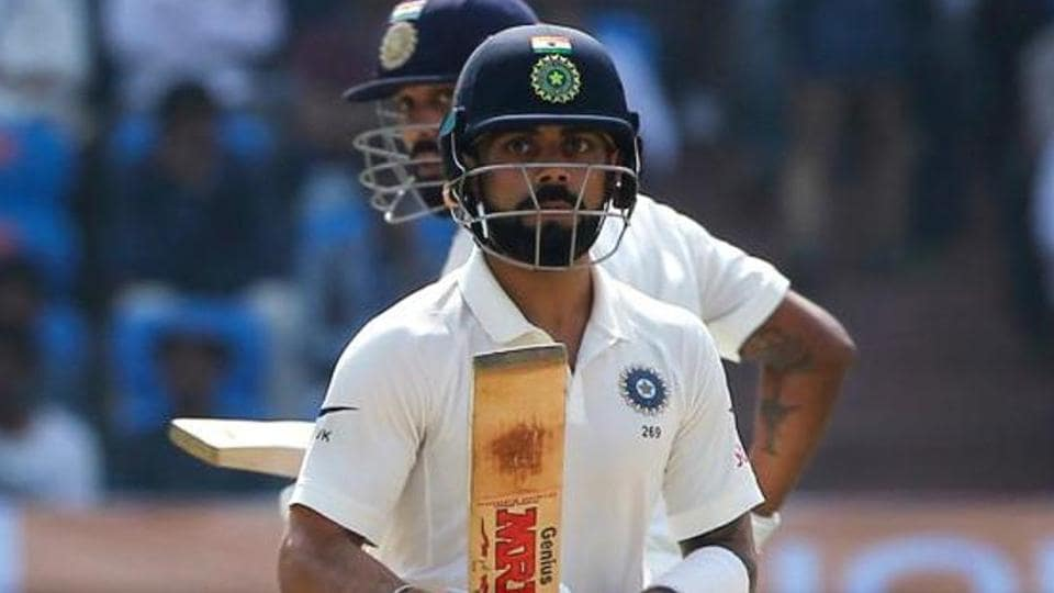 Virat Kohli in action during the one-off Test match against Bangladesh. (BCCI)
