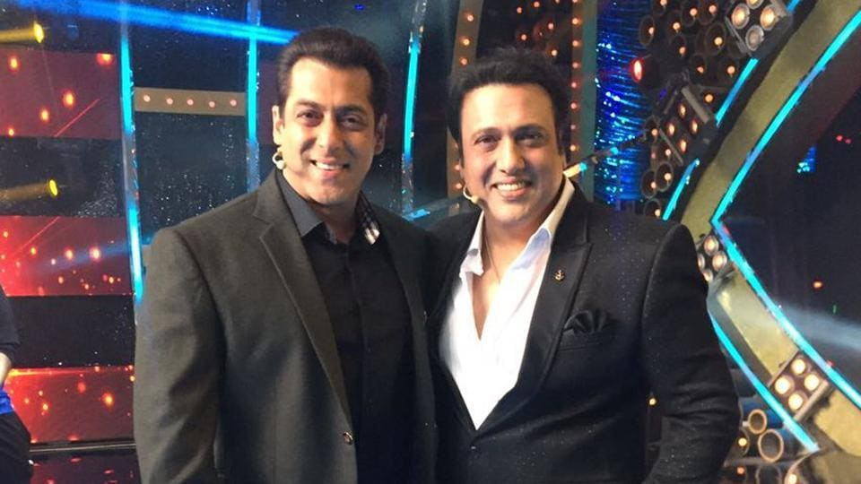 Govinda on the sets of Bigg Boss to promote Aa Gaya Hero.