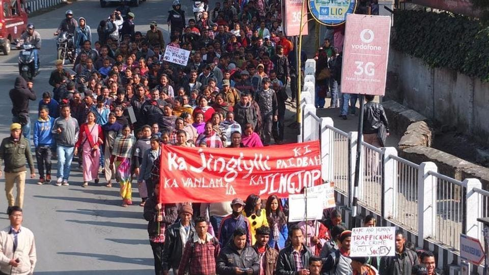 Around 500 activists and residents had taken to the streets in Shillong after a 14-year-old girl was raped allegedly by rebel-turned-MLA Julius Kitbok Dorphang.