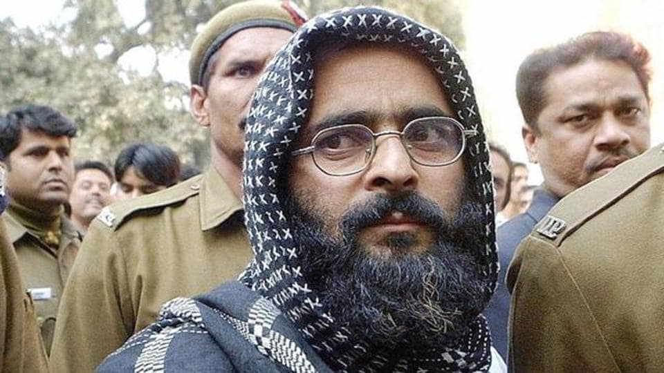Parliament  attacks convict Afzal Guru was hanged in January 2013.