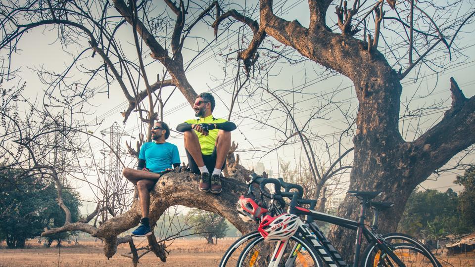 Prashant Madan (right) and Chidambaram Vijaykumar during a practice session in Mumbai
