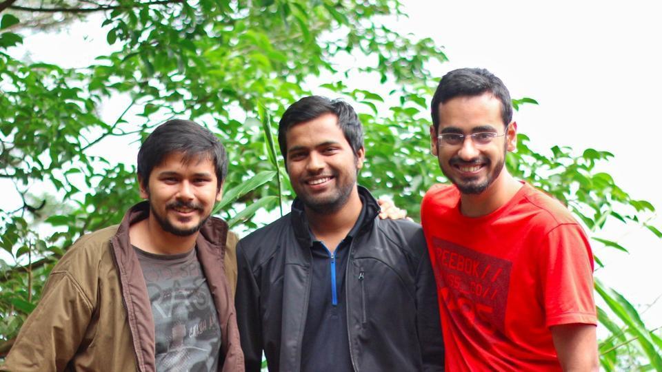 Left to right: Farid Ahsan from Lucknow, Bhanu Pratap Singh of Gorakhpur and Ankush Sachdeva of Ghaziabad.