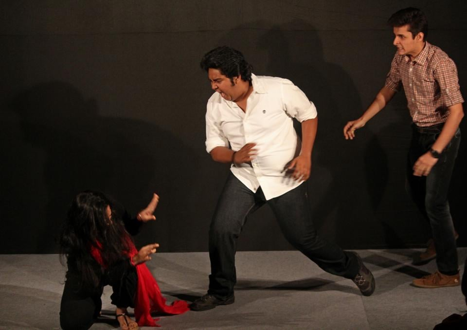 A scene from a play showcased during HT KGAF on Wednesday.