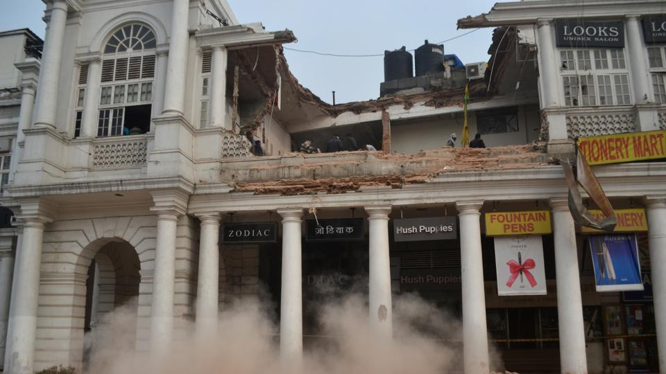 CP building collapse,Connaught Place collapse,Connaught Place restaurants