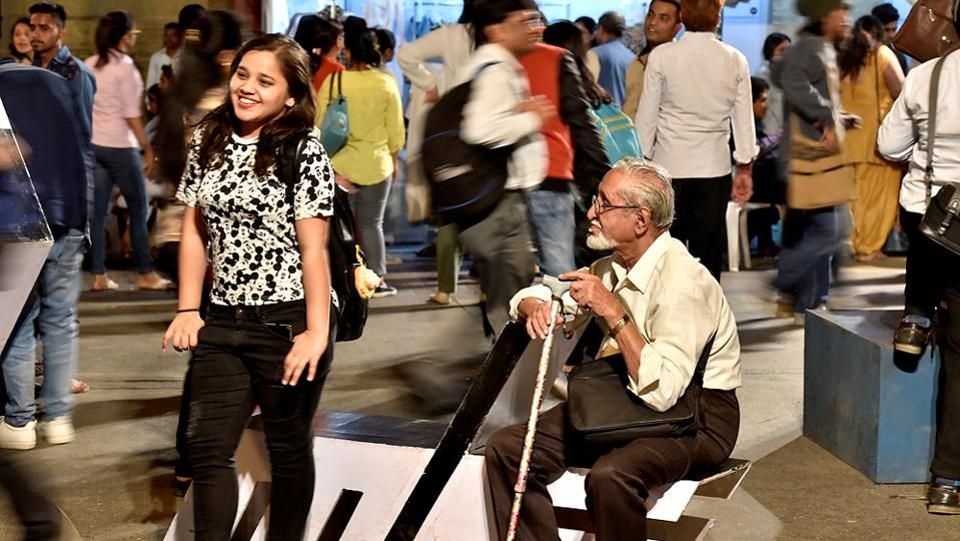 The young and old were equally happy at what was on show at the festival. (Arijit Sen/HT PHOTO)